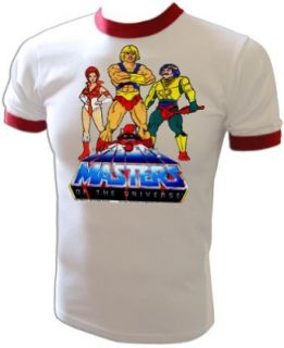Vintage 1983 Mattel He Man Masters of the Universe Cartoon Heroesl T Shirt: Clothing