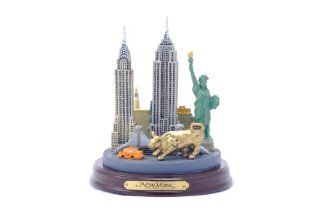 Shop Classic New York City Hand Painted Skyline Landmark Statue Replica Sculpture Souvenir at the  Home D�cor Store