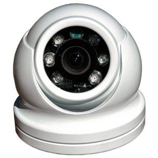 Iris Innovations IM DND 60R Surface Mount Domed Color Camera with ReverseImage and Built In Infrared LED Illumination for LowLight Conditions (White)  Eyeball Camera  Camera & Photo