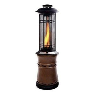 The Inferno Central Flame LP Gas Patio Heater Finish: Bronze   Chimney Caps