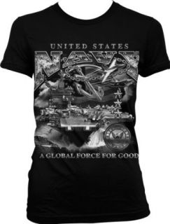 US Navy, A Global Force For Good Juniors T shirt, United States Navy Junior's Tee Shirt Clothing