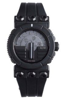 RSW Men's 7125.1.R1.5.00 Outland Disk Black IP Stainless Steel Automatic Sub seconds Rubber Watch Watches