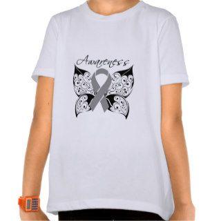 Tattoo Butterfly Awareness   Brain Tumor Shirts