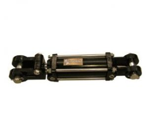 """Prince W400240 Double Acting Tie Rod Hydraulic Cylinder, Clevis Mounting, Plated, 4"""" Bore, 24"""" Stroke, 2"""" Rod Diameter, 1/2"""" Thread, 1/2"""" NPTF Port Industrial & Scientific"""