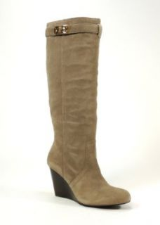 Coach Angie Wedge Boot (Taupe, 7.5): Shoes