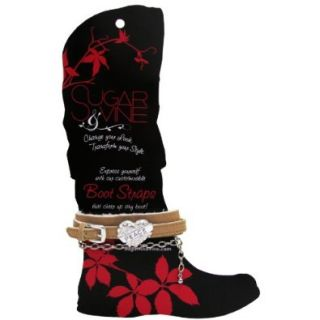 Sugar and Vine Caramel Boot Strap with Tattoo Heart with PEACE charm: Shoes