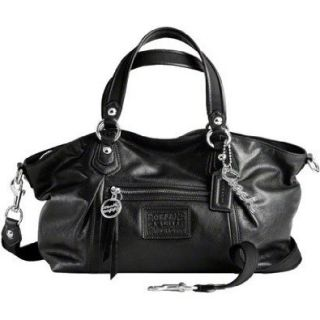Coach Leather Rocker Convertiable Satchel Shoulder Hobo Bag Purse Tote 16285 Black Hobo Handbags Clothing