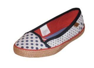 Tommy Hilfiger Girls/Women Miranda Dots Espadrilles Flats Shoes (US5, White/navy/red/beige) Shoes