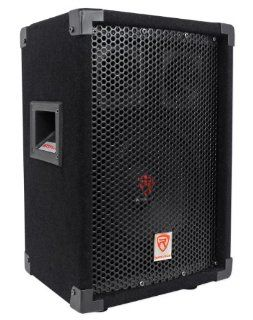"""Rockville RSG 8 Single 8"""" 300 Watts Peak/100 Watts RMS 8 Ohm Carpeted Passive Loudspeaker with Two 3"""" Piezo Bullet Tweeters and a 1.5"""" High Temperature Voice Coil For Amazing Performance Musical Instruments"""