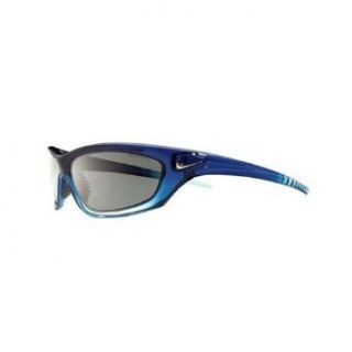 Nike Overpass Sunglasses, EV0251 404, French Blue Faded Crystal Frame/ Gray Lenses Clothing