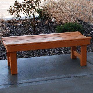 Jayhawk Plastics Recycled Plastic Garden Bench  Outdoor Benches  Patio, Lawn & Garden
