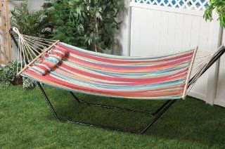 Bliss Hammocks BH 404B Oversized Hammock with Spreader Bar and Pillow   Tropical Fruit : Camping Cots & Hammocks : Patio, Lawn & Garden