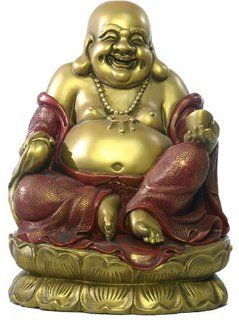 """Extra Large 14.5""""H Seated Happy Buddha Statue Sculpture"""