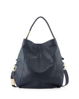 Southside Leather Hobo Bag, Navy