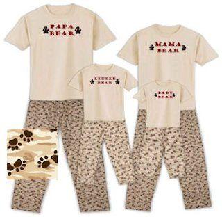 Papa Bear, Mama Bear, Little Bear, and Baby Bear Family Matching Pajamas, Baby 12/18 Months, Little Bear: Baby