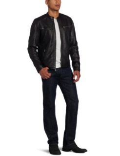 Calvin Klein Jeans Men's Liquid Metal Biker Jacket, Gunmetal, Small at  Men�s Clothing store