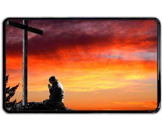 Man praying at cross christian Kindle Fire snap on Case / Cover for Sides / Back of Kindle Fire: Office Products