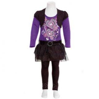Toddler Girls Size 2T Purple Heart Sequin Belt Black Bolero 2pc Outfit RMLA Clothing