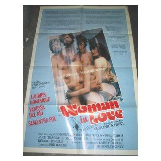 WOMAN IN LOVE / ORIGINAL U.S. ONE SHEET MOVIE POSTER (VANESSA DEL RIO): VANESSA DEL RIO: Entertainment Collectibles