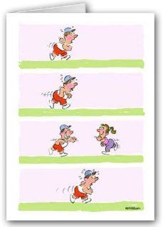 Funny Jogging Note Card Pack   Faking It!: Health & Personal Care