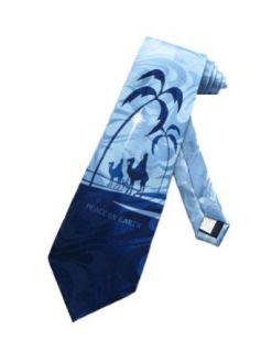 Steven Harris Jesus Christmas Three Wise Men Necktie   Blue   One Size Neck Tie Clothing