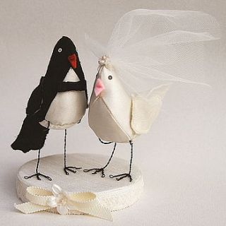 love birds cake topper by leah halliday