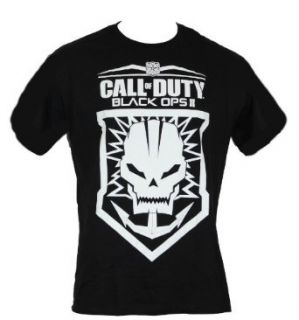 Call of Duty Black Ops 2 Mens T Shirt   Skull Anchor Logo Patch Image Clothing