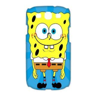 Custom Spongebob 3D Cover Case for Samsung Galaxy S3 III i9300 LSM 3287: Cell Phones & Accessories