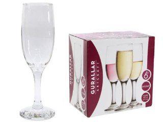 Set of 6 Misket Stemware Champagne Flute Glasses, 6.5 Oz. Kitchen & Dining
