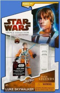 2009 Star Wars Legacy Collection, Luke Skywalker X Wing Pilot, 3 3/4 Inch Figure SL No. 17. Toys & Games