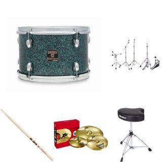 Gretsch Drums CC R444 OT Catalina Club Rock 4 Piece Drum Set Shell Pack   Ocean Twilight Bundle Musical Instruments