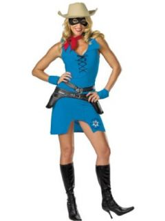 7 Piece Sexy Lone Ranger Costume Cow Girl Sherif Western Womens Theatrical: Clothing