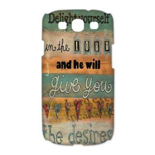 Custom Bible Verse 3D Cover Case for Samsung Galaxy S3 III i9300 LSM 446: Cell Phones & Accessories