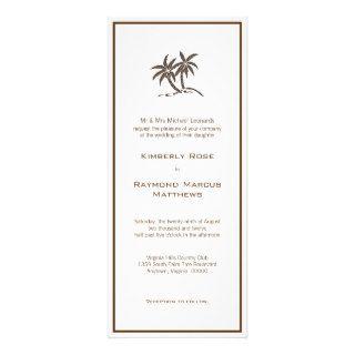 Twin Palm Trees Wedding Invitations