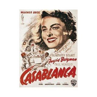 Casablanca   Ingrid Bergman   Warner Brothers Movie Poster   1000 Piece Jigsaw Puzzle   2007   Ravensburger Toys & Games