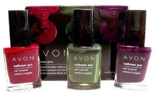 Avon Nailwear Pro Nail Enamel Polish Enchanted Holiday Trio  Beauty