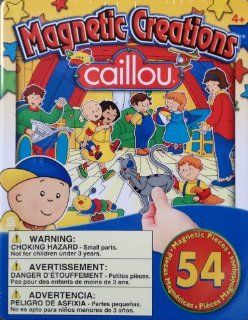 Caillou Magnetic Creations Playset 54 piece W tin case for storage Toys & Games