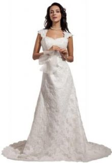 GEORGE BRIDE Elegant Lace Strap Sweetheart Neckline Wedding Dress at  Women�s Clothing store