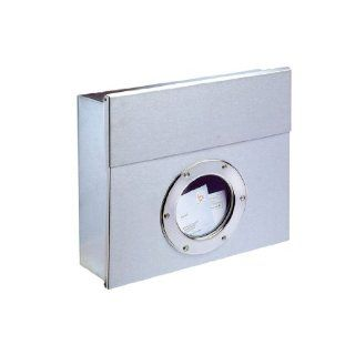 Letterman Wall Mounted Mailbox Color Stainless Steel, Size Small
