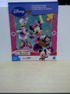 Minnie Mouse & Daisy Duck 9 Piece Woodboard Puzzle: Toys & Games
