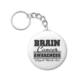 Brain Cancer Awareness Key Chains