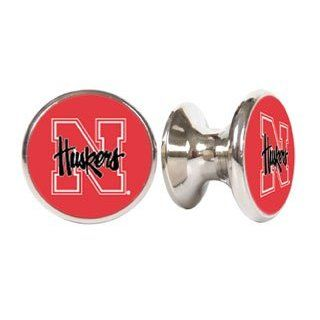 Nebraska Corn Huskers NCAA Stainless Steel Cabinet Knobs / Drawer Pulls (2 pack)   Cabinet And Furniture Knobs