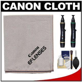 Canon Microfiber Cloth, Hurricane Blower, Brush, Fluid, Tissue & LensPen Cleaning Kit for EF Lenses & EOS 1Ds, 1Ds Mark II, III, IV, 50D, 5D, 7D, Rebel XS, XSi, T1i & T2i Digital SLR Cameras : Camera & Photo