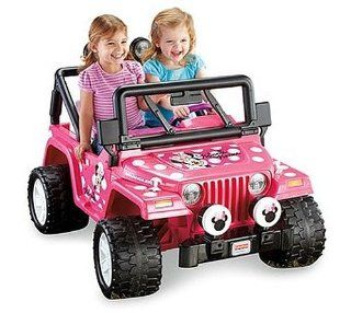 Fisher Price Power Wheels Girls' Disney Minnie Mouse Jeep 12 Volt Battery Powered Ride On Toys & Games