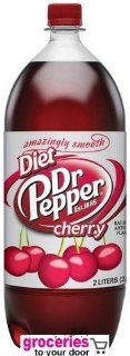 Dr. Pepper Cherry Diet Soda, 2 Liter Bottle (Pack of 6) : Soda Soft Drinks : Grocery & Gourmet Food
