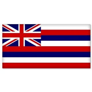 "Hawaii Hawaiian State Flag car bumper sticker 5"" x 4"" Automotive"