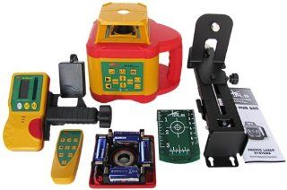 PLS Laser PLS 60547 PLS HVR 505G Highly Visible Rotary Laser System, Yellow/Red/Green