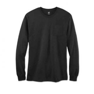 Hanes 498L Hanes TAGLESS Nano T Men's Long Sleeve Tee at  Men�s Clothing store