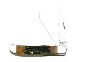 Bear & Son 507 3 1/2 Inch Genuine India Stag Bone Mini Trapper Knife Sports & Outdoors
