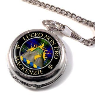 MacKenzie Scottish Clan Crest Full Hunter Pocket Watch: Watches